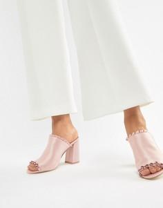 Атласные мюли на каблуке Glamorous - Розовый