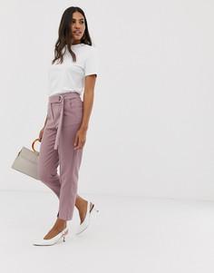 Узкие брюки с разрезами Vila - Розовый