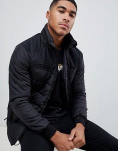 Черная дутая куртка с капюшоном Chasin Nixon - Черный Chasin
