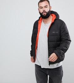 Черная дутая куртка с капюшоном Sixth June эксклюзивно для ASOS - Черный