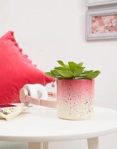 Розовый цветочный горшок с золотистой отделкой Sass & Belle - Мульти