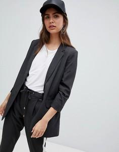 Пиджак со сборками на рукавах b.Young - Серый