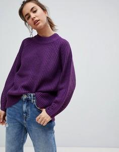 Джемпер с высоким воротником b.Young - Фиолетовый