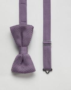 Фиолетовый трикотажный галстук-бабочка Twisted Tailor - Фиолетовый