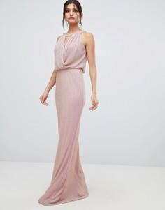 Платье макси с вырезом капелькой Forever Unique - Розовый