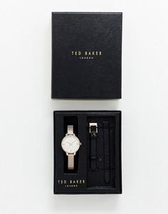 Часы со сменным ремешком в подарочном наборе Ted Baker Kate - Золотой