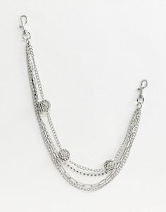 Серебристый ремень-цепочка с отделкой ASOS DESIGN - Серебряный