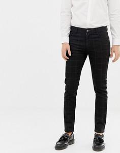 Черные джинсы скинни в клетку ASOS DESIGN - Черный