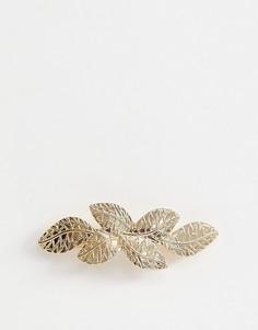 Золотистая заколка для волос с листьями ASOS DESIGN - Золотой