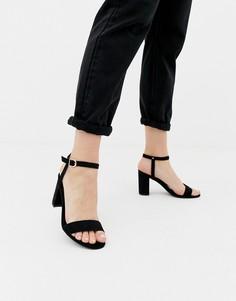 Черные босоножки на блочном каблуке New Look - Черный
