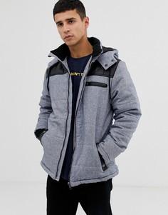 Стеганая куртка на молнии с капюшоном Another Influence - Серый