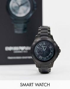 Черные смарт-часы 43 мм Emporio Armani ART5010 Alberto - Черный