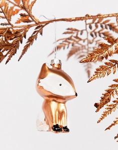 Новогоднее елочное украшение в виде лисы Sass & Belle - Мульти