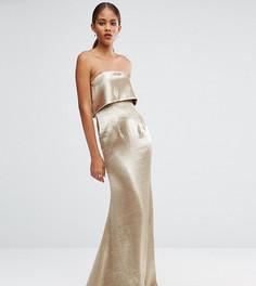 Платье макси с накладкой Jarlo Tall Blaze - Серебряный