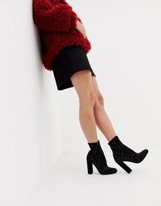 Полусапожки с эффектом носка и стразами ASOS DESIGN Elsa - Мульти