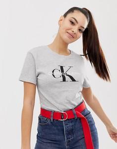 Узкая футболка с логотипом Calvin Klein Jeans - Серый