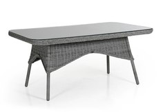 Плетеный стол Evita grey Brafab