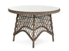 Плетеный круглый стол Beatrice-1 brown Brafab