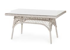 Плетеный прямоугольный стол Beatrice-2 white Brafab