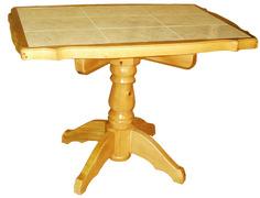 Стол кухонный прямоугольный на одной ноге