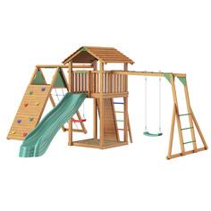 Городок Jungle Cottage+Climb Module Xtra+Рукоход с качелей