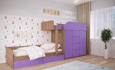 Детская двухъярусная кровать ДМ 45 BMS