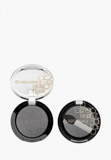 Тени для век Art-Visage COLOR DREAM одноцветные с аппликатором 123 серый с блестками