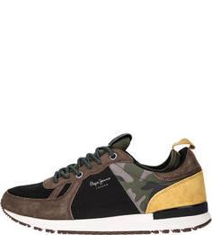 Разноцветные кроссовки на шнуровке Pepe Jeans