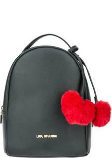 Темно-зеленый рюкзак с одним отделом Love Moschino