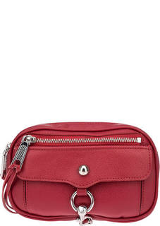 Красная поясная сумка из натуральной кожи Rebecca Minkoff
