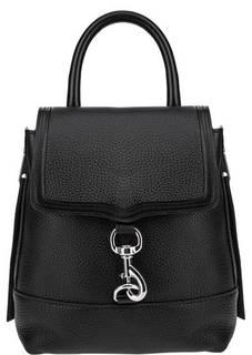 Черный кожаный рюкзак с откидным клапаном Rebecca Minkoff