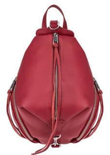 Кожаный городской рюкзак красного цвета Rebecca Minkoff