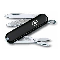 Складной нож VICTORINOX Classic, 7 функций, 58мм, черный [0.6223.3]