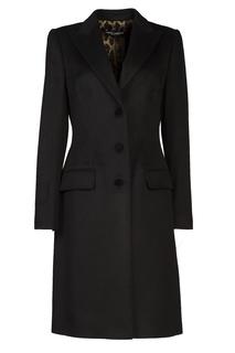 Черное шерстяное пальто Dolce & Gabbana