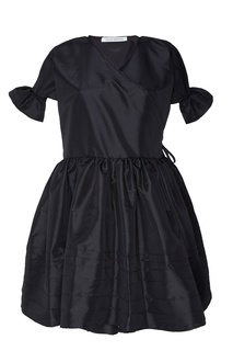 Черное атласное платье Frisca Cecilie Bahnsen