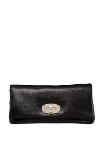 Черная сумка с пайетками Crystal Miu Miu