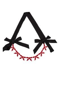 Красное с черным короткое колье Simone Rocha