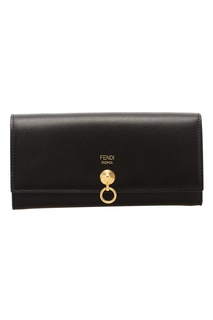 Кожаный кошелек с декоративным замком Fendi