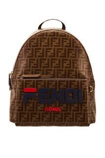 Коричневый рюкзак с логотипами Fendi x FILA