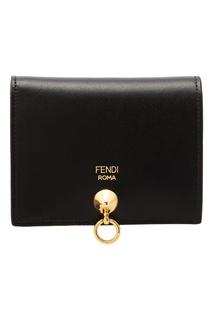 Черный кожаный кошелек Fendi
