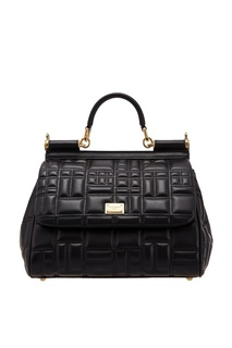Стеганая черная сумка Miss Sicily Dolce & Gabbana
