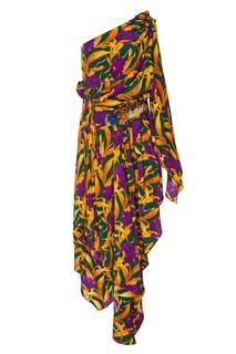 Асимметричное шелковое платье Gucci
