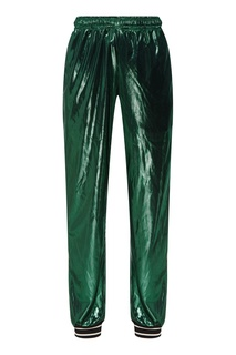Зеленые джоггеры с лампасами Gucci Man