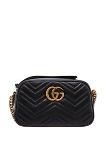 Маленькая черная сумка GG Marmont Gucci