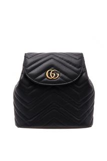 Маленький кожаный рюкзак GG Marmont Gucci