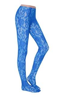 Синие кружевные колготки Gucci