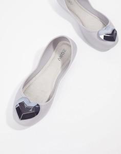 Туфли на плоской подошве с сердцем Zaxy - Серый