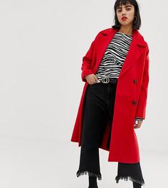 Двубортное пальто Vero Moda Petite - Красный
