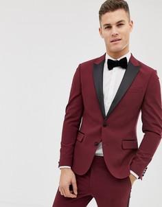 Сливовый приталенный пиджак-смокинг ASOS DESIGN - Фиолетовый