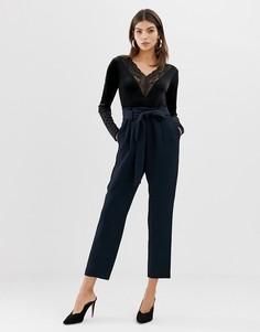 Фактурные брюки с присборенным поясом Y.A.S - Темно-синий